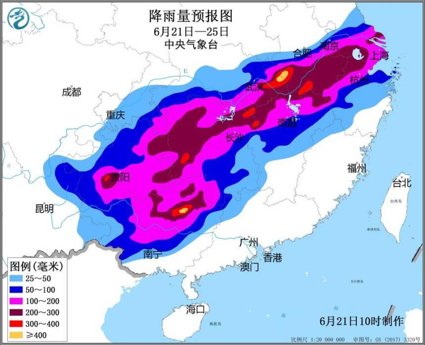 气象台发布 长江中下游一带将遇入汛以...