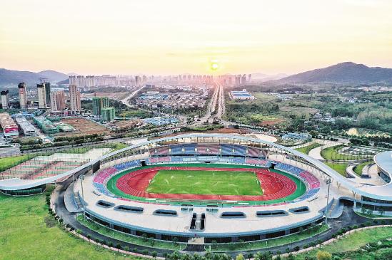 赤壁市体育中心已完成竣工验收 将举办咸宁市第二届运动会